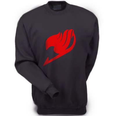 Fairy Tail symbol Manga Anime Red Ink Crewneck Sweatshirt - Meh. Geek