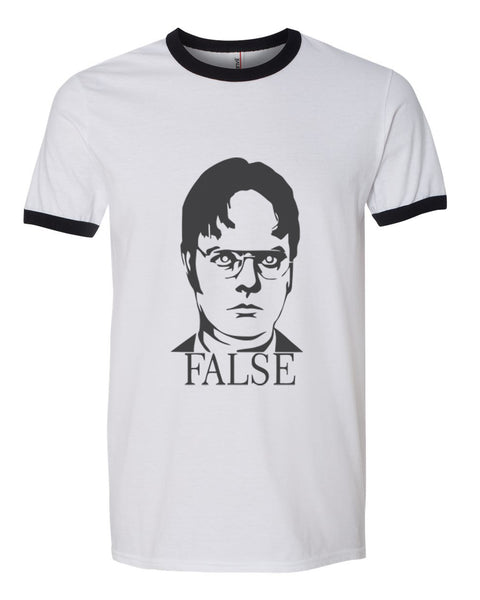 False Dwight Schrute Ringer Unisex T-shirt / tee