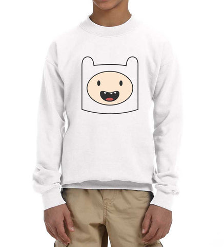 Finn Adventure time Kid / Youth Crewneck Sweatshirt