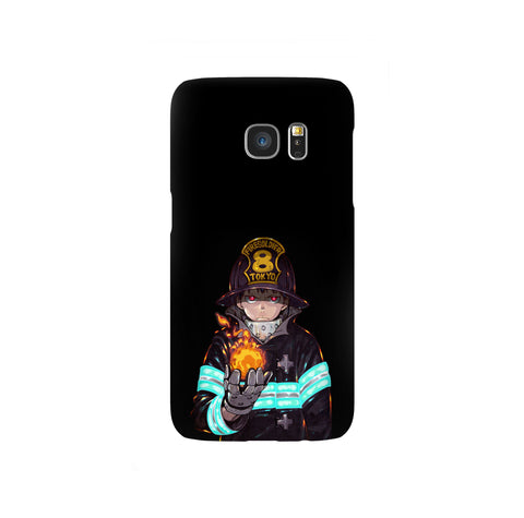 Fire Force Shinra Kusakabe Samsung Galaxy Snap or Tough Case