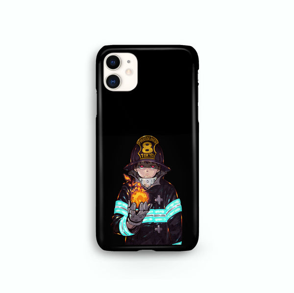 Fire Force Shinra Kusakabe iPhone Snap or Tough Case