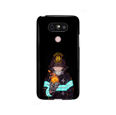 Fire Force Shinra Kusakabe LG and Google Pixel Snap or Tough Phone Case