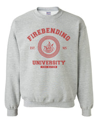 Firebending University Maroon Ink print Avatar Fire bender Unisex Crewneck Sweatshirt Adult