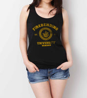Firebending University Yellow Ink print Avatar Fire Bender Unisex Women Tank top - Meh. Geek