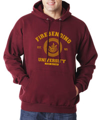 Firebending University Yellow Ink Avatar Fire Bender Unisex Pullover Hoodie - Meh. Geek