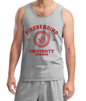 Firebending University Maroon Ink print Avatar Fire Bender Men Tank Top