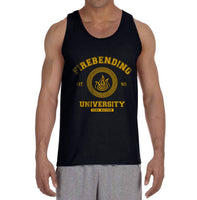 Firebending University Yellow Ink print Avatar Fire Bender Men Tank Top - Meh. Geek - 1