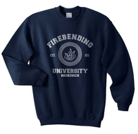 Firebending University Bw Ink Avatar Firebender Fire nation Unisex Crewneck Sweatshirt Adult