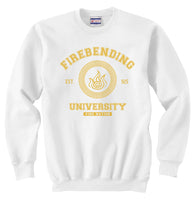Firebending University Yellow Ink print Avatar Firebender Unisex Crewneck Sweatshirt Adult