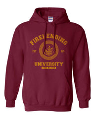 Firebending University Yellow Ink Avatar Fire Bender Unisex Pullover Hoodie