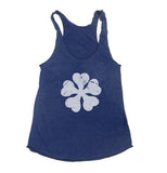 Five Clover Black Clover Triblend Racerback Women Tank Top
