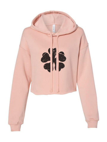 Five Clover Black Clover Cropped Hoodie