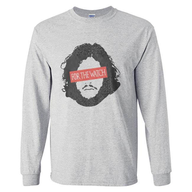 For The watch Jon Snow Long Sleeve T-shirt for Men - Meh. Geek - 5