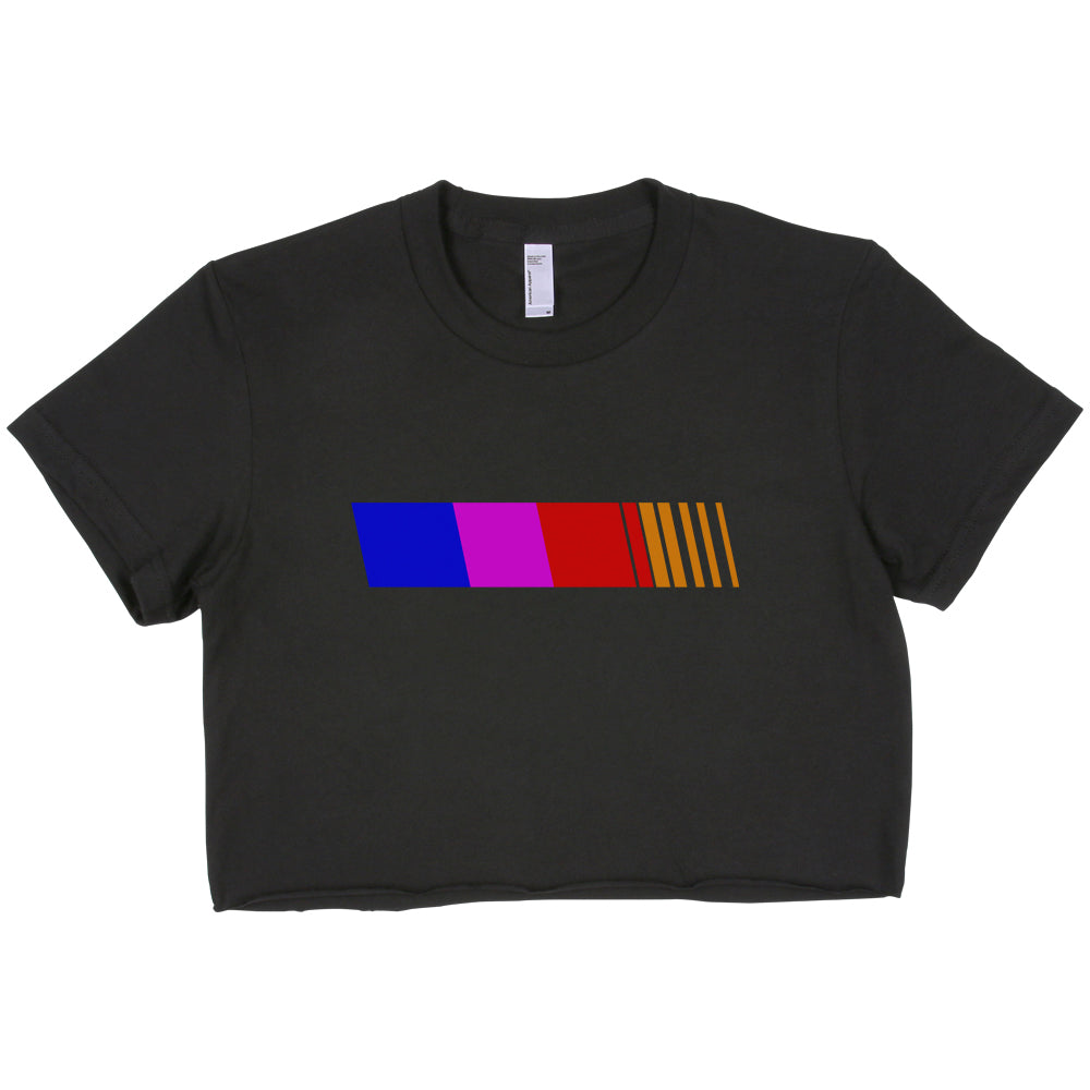 Blond Frank Ocean Logo Only Rainbow Crop Top Tee