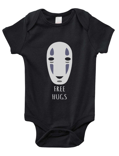 Free Hugs No Face Infant Baby Rib Lap Shoulder Creeper Onesie Bodysuit