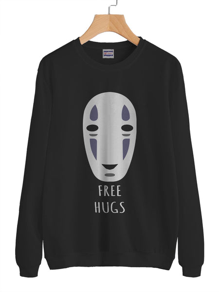 Free Hugs No Face Kaonashi Crewneck Sweatshirt (Adult)