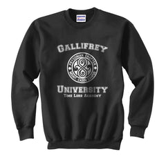 Gallifrey University Doctor Who Unisex Crewneck Sweatshirt - Meh. Geek