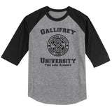 Gallifrey University Time Lord Academy Unisex 3/4 Raglan Tee