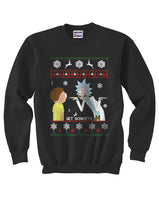 2# Get Schwifty Rick and Morty Ugly Sweater Unisex Crewneck Sweatshirt - Meh. Geek - 4