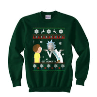2# Get Schwifty Rick and Morty Ugly Sweater Unisex Crewneck Sweatshirt - Meh. Geek - 1
