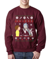 2# Only Get Schwifty Rick and Morty Ugly Sweater Unisex Crewneck Sweatshirt - Meh. Geek - 1