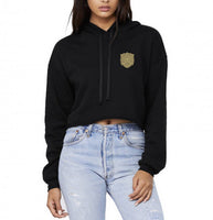 Golden Dawn Pocket Black Clover Cropped Hoodie
