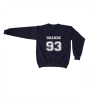 Grande 93 White Ink on Front Ariana Grande Unisex Crewneck Sweatshirt Adult