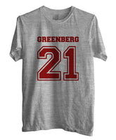 Greenberg 21 on front Beacon Hills Lacrosse Wolf Unisex Men T-shirt - Meh. Geek