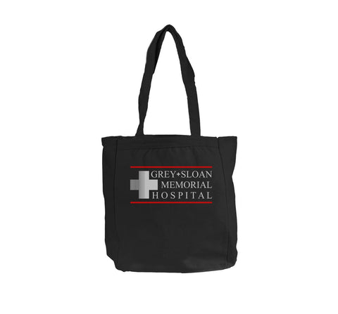 Logo Only Grey Sloan Memorial Hospital Bagedge BE008 12 OZ Canvas Tote bag