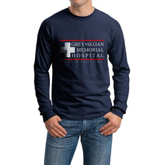 Grey Sloan Memorial Hospital Long Sleeve T-shirt for Men