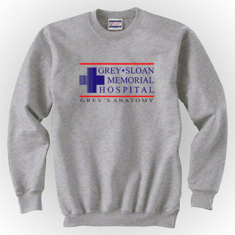 Grey + Sloan Memorial Hospital Grey's Anatomy Unisex Crewneck Sweatshirt - Meh. Geek - 1