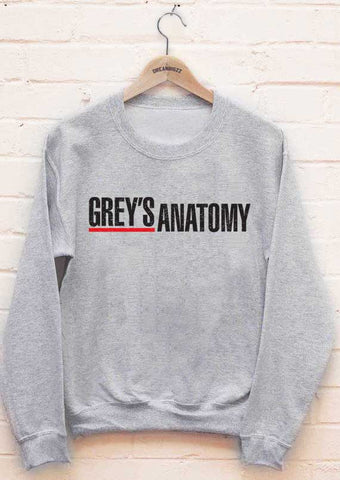 Greys Anatomy Logo Grey's Anatomy Unisex Crewneck Sweatshirt - Meh. Geek - 1
