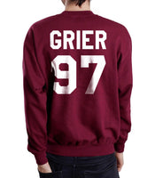 Grier 97 White Ink on Back Nash Grier Unisex Crewneck Sweatshirt - Meh. Geek