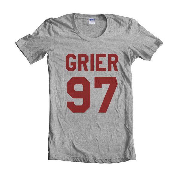 Grier 97 Maroon Ink on Front Nash Grier Women T-shirt