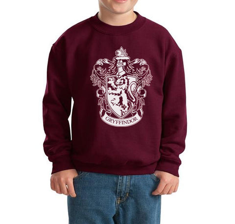 Gryffindor #1 Crest White Kid / Youth Crewneck Sweatshirt PA Crest