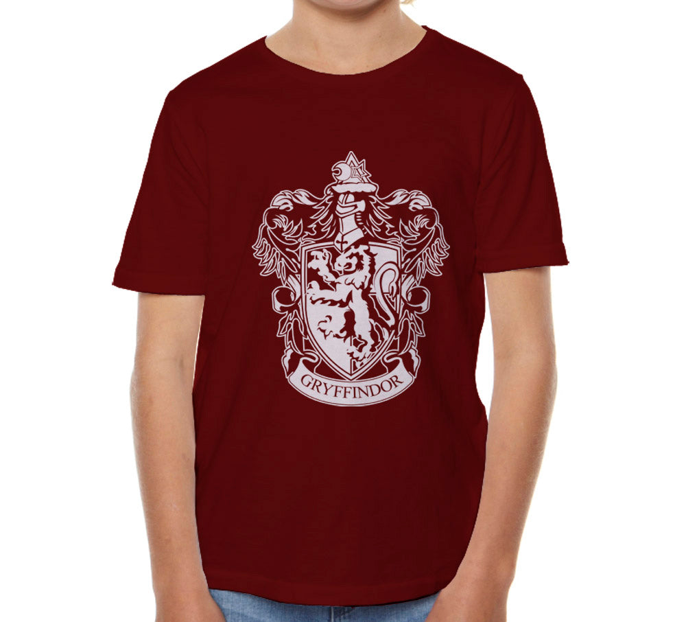 Gryffindor Crest #1 White ink Kid / Youth T-shirt tee PA Crest
