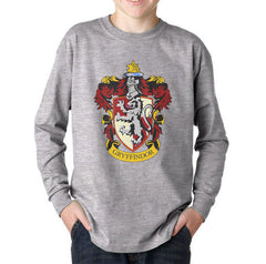 Gryffindor Crest #1 Color Kid / Youth Long Sleeves T-shirt tee PA Crest