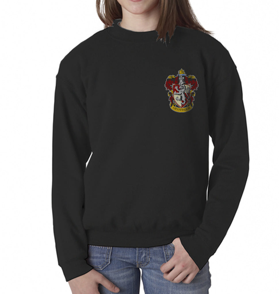 Gryffindor #1 Crest Pocket Kid / Youth Crewneck Sweatshirt PA Crest