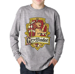 Gryffindor Crest #2 Color Kid / Youth Long Sleeves T-shirt tee PA Crest