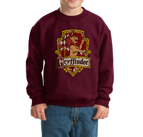 Gryffindor #2 Crest Kid / Youth Crewneck Sweatshirt PA Crest