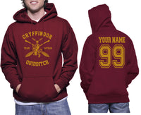 Customize - New Gryffindor CAPTAIN Quidditch Team Unisex Pullover Hoodie Maroon