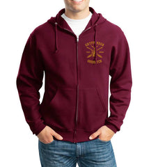 Gryffindor SEEKER Quidditch Team Front pocket and back full Unisex Zip Up Hoodie Maroon Adult
