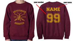 Customized Gryffindor CAPTAIN sweatshirt