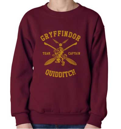 Gryffindor CAPTAIN Quidditch Team Unisex Crewneck Sweatshirt PA New Adult