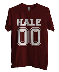 Hale 00 on front Beacon Hills Lacrosse Wolf Men T-shirt