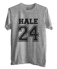 Hale 24 on front Beacon Hills Lacrosse Wolf Unisex Men T-shirt - Meh. Geek - 2