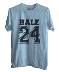 Hale 24 on front Beacon Hills Lacrosse Wolf Unisex Men T-shirt - Meh. Geek - 1