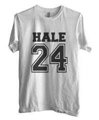 Hale 24 on front Beacon Hills Lacrosse Wolf Men T-shirt