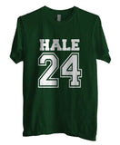 Hale 24 White Ink on front Beacon Hills Lacrosse Wolf Unisex Men T-shirt - Meh. Geek - 3