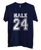 Hale 24 White Ink on front Beacon Hills Lacrosse Wolf Unisex Men T-shirt - Meh. Geek - 4